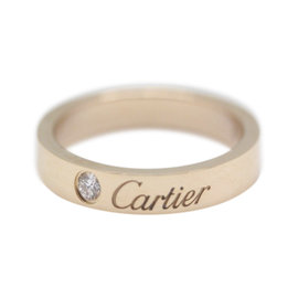 Cartier 750 Rose Gold Diamond Ring Size 4