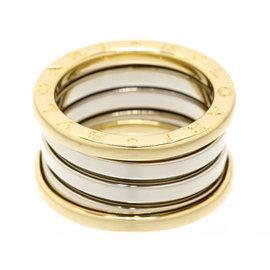Bulgari B-Zero1 18K Yellow & White Gold Bands Ring Size 5.75