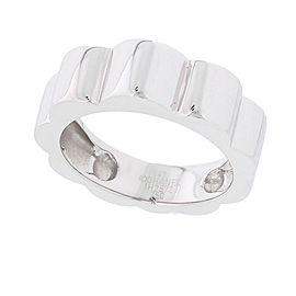 Chanel Profil De Camelia 18k White Gold Ring Size 3.5