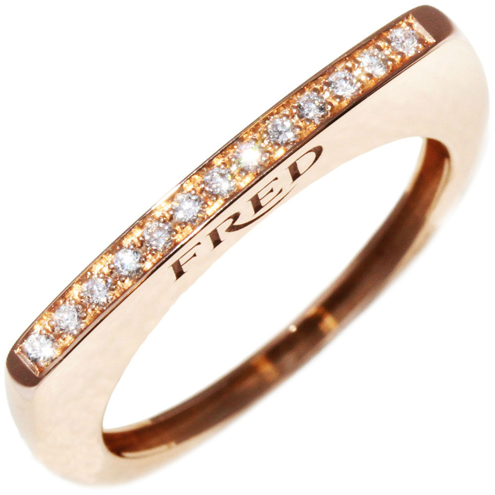 "Image of ""Fred of Paris 18k Rose Gold Diamond Ring Size 6.25"""