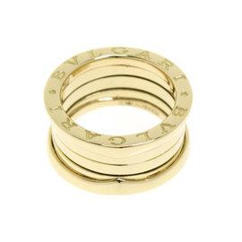 Bulgari 18K Yellow Gold B-zero 1 4 Bands Ring Size 5.5