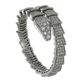 Bulgari Serpenti Pave 18K White Gold Diamond Bracelet