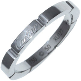 Cartier Maillon Panthere 750 White Gold Ring Size 5.25