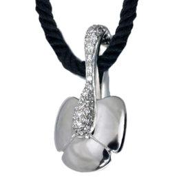Chaumet 18k White Gold Diamond Cord Necklace