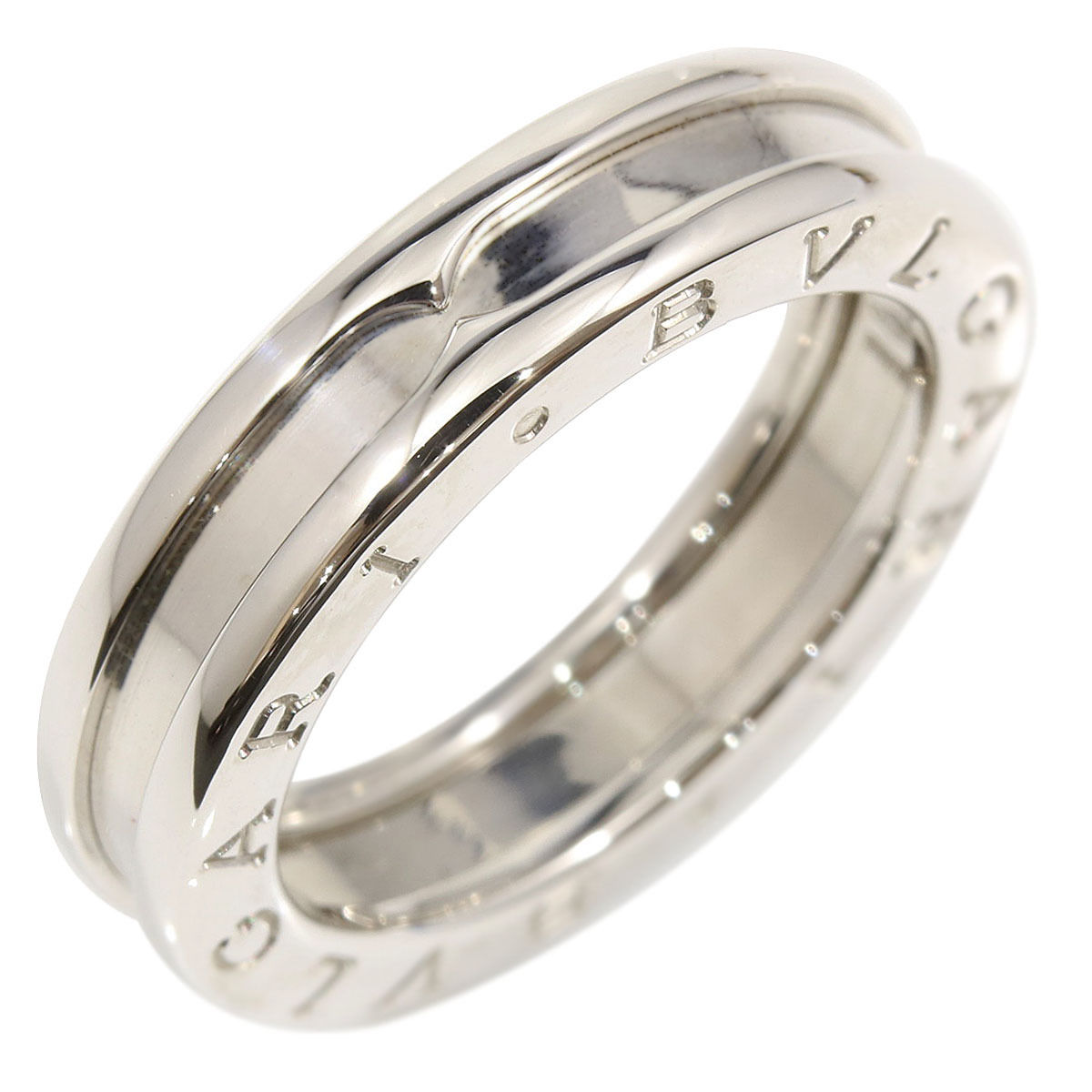 "Image of ""Bulgari 18K White Gold B-Zero 1 Band Ring Size 5.75"""