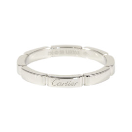 Cartier 18K White Gold Maillon Panthere Ring Size 8.75
