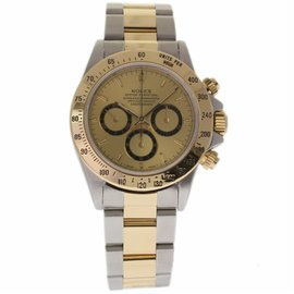 Rolex Daytona 16523 Stainless Steel & 18K Yellow Gold Champagne Dial Automatic 40mm Mens Watch 1995