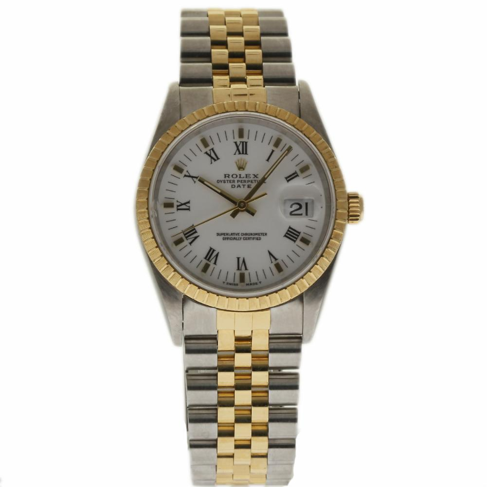 "Image of ""Rolex Date 15223 Stainless Steel & 18K Yellow Gold White Dial"""