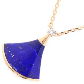 Bulgari 18K Pink Gold Divas with Lapis Lazuli and Diamond Necklace