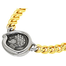Bulgari Monete 18K Yellow Gold Coin Motif Pendant Necklace