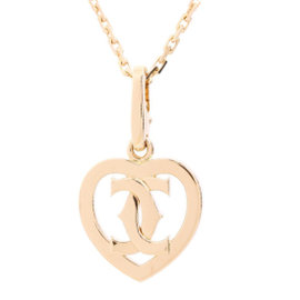 Cartier 18K Rose Gold 2C Heart Pendant Charm Necklace