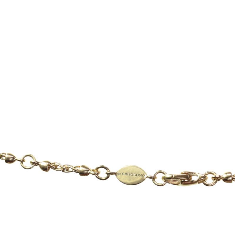 "Image of ""De Grisogono 18K Yellow Gold Black Enamel Pendant Necklace"""