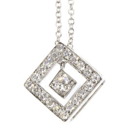 Tiffany & Co. Platinum 950 Diamond Pendant Necklace