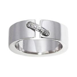 Chaumet Liens 18k White Gold Diamond Ring Size 5.25