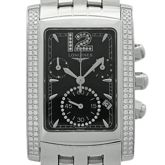 """Image of """"Longines DolceVita L5.656.0 Stainless Steel Black Diamond Dial 17mm"""""""