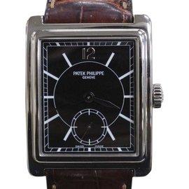 Patek Philippe Gondolo 5010 18K White Gold / Leather 25mm Mens Watch