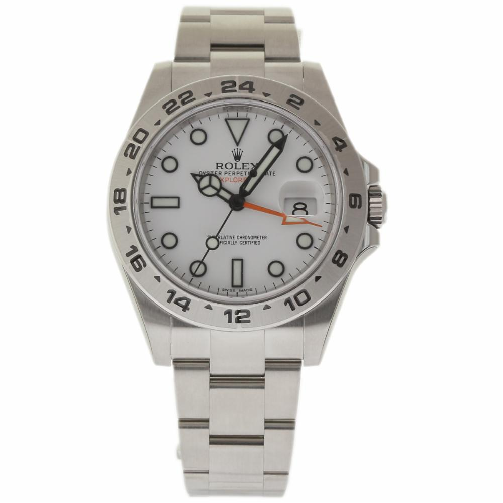 "Image of ""Rolex Explorer II 216570 Stainless Steel White Dial Automatic 42mm"""
