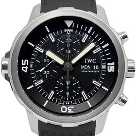 IWC Aquatimer Chronograph IW376803 Stainless Steel Rubber Black Dial Automatic 44mm Mens Watch