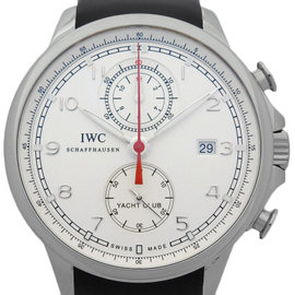 IWC Portuguese Yacht Club IW390211 Stainless Steel Rubber Silver 45mm Mens Watch