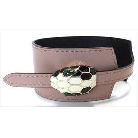 Bulgari Serpenti Leather Bracelet