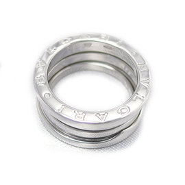 Bulgari B Zero1 18K White Gold Three Band Ring Size 5.75