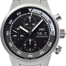 IWC Aquatimer IW371928 Stainless Steel Black Dial Auto 42mm Mens Watch