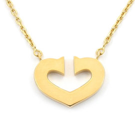 Cartier 750 Yellow Gold C Heart Necklace