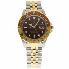 Rolex GMT Master 16753 Stainless Steel & Yellow Gold Automatic 40mm Mens Watch 1986