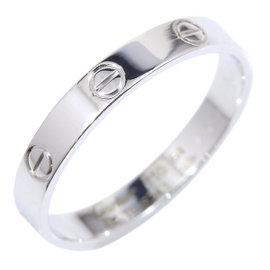 Cartier 18K White Gold Mini Love Ring Size 11