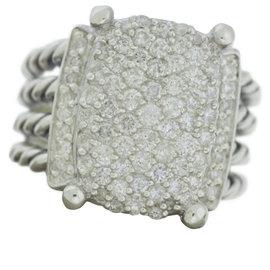 David Yurman Wheaton 925 Sterling Silver & 1.12ct Diamond Ring Size 7
