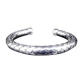 Bottega Veneta Intrecciato 925 Sterling Silver Bangle Bracelet