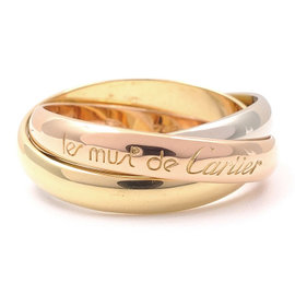 Cartier Trinity 18K Yellow, White & Pink Gold Ring
