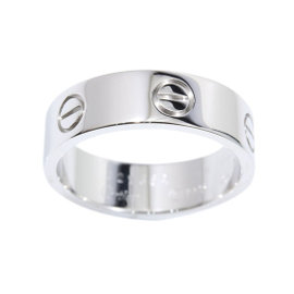 Cartier 18K White Gold Love Ring Size 8.25