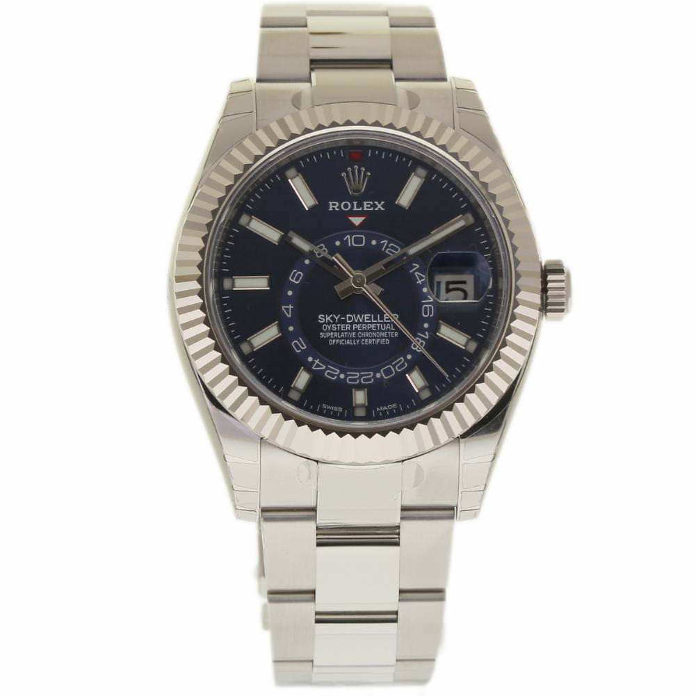 "Image of ""Rolex Sky-Dweller 326934 Stainless Steel/18K White Gold Blue Dial"""