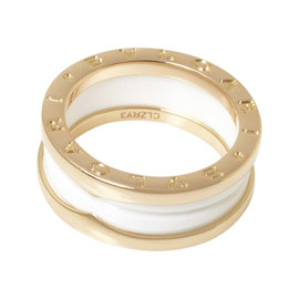 Bulgari B.Zero1 18K Rose Gold & Ceramic Ring Size 7.5