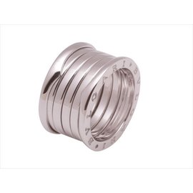 Bulgari 18K White Gold B.Zero1 Five Band Ring Size 6.5