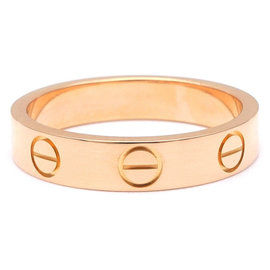 Cartier 18K Rose Gold Mini Love Ring Size 4.5