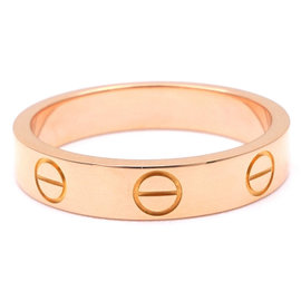 Cartier 18K Rose Gold Mini Love Ring Size 4.75