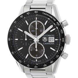 Tag Heuer Carrera CV201AL.BA0723 Stainless Steel Black Dial 41mm Mens Watch