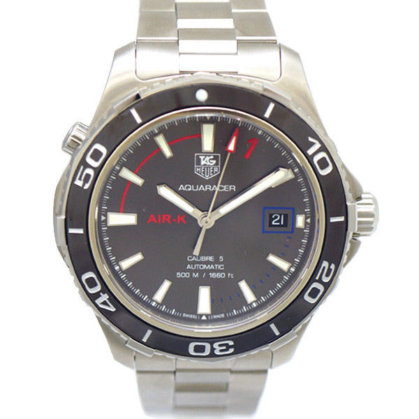 "Image of ""Tag Heuer Aquaracer Air-K2 Wak2112.ba0830 Stainless Steel Gray Dial"""