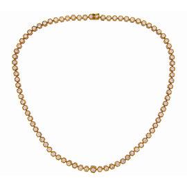 Van Cleef & Arples 18K Yellow Gold 7.38ct. Diamond Necklace