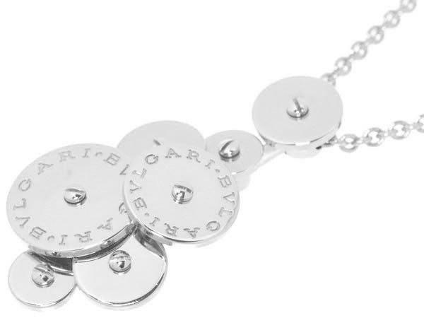 "Image of ""Bulgari 18K White Gold Cicladi 7 Disc Pendant Necklace"""