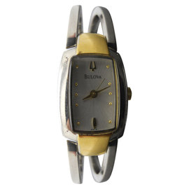 Bulova 98T81 Two Tone Stainless Steel / Gold Plated Quartz Womens Watch