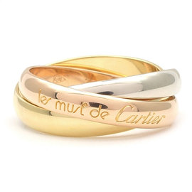 Cartier Trinity 18K Yellow, Rose & White Gold Ring Size 6.25