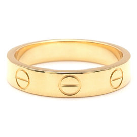 Cartier 18K Yellow Gold Mini Love Ring Size 4.5