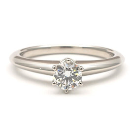 Tiffany & Co. Platinum 0.27ct Solitaire Diamond Ring Size 5.5