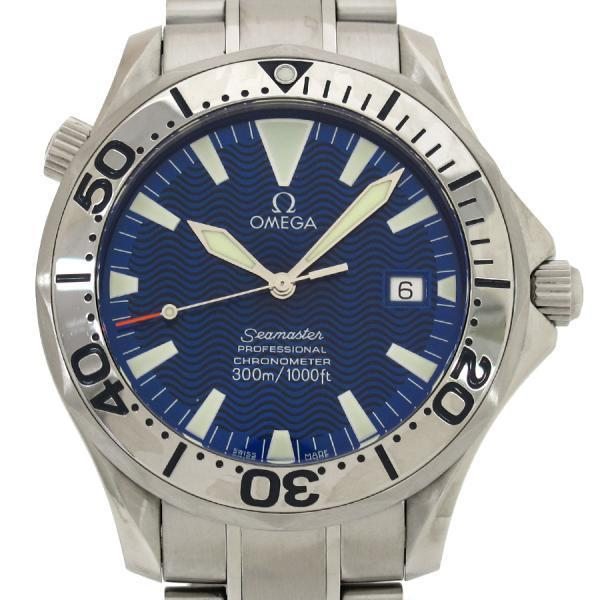 "Image of ""Omega Seamaster 2255.80 Stainless Steel Blue Dial Automatic 41mm Mens"""