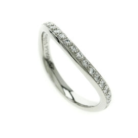 Cartier 950 Platinum with Diamond Ring Size 4.25