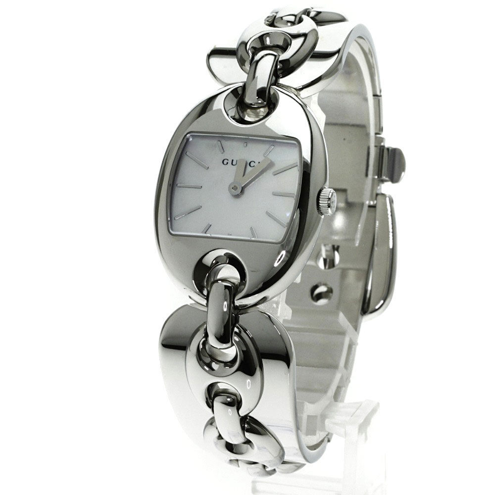 "Image of ""Gucci Ya121.5 Stainless Steel White Dial Quartz 34mm Womens Watch"""