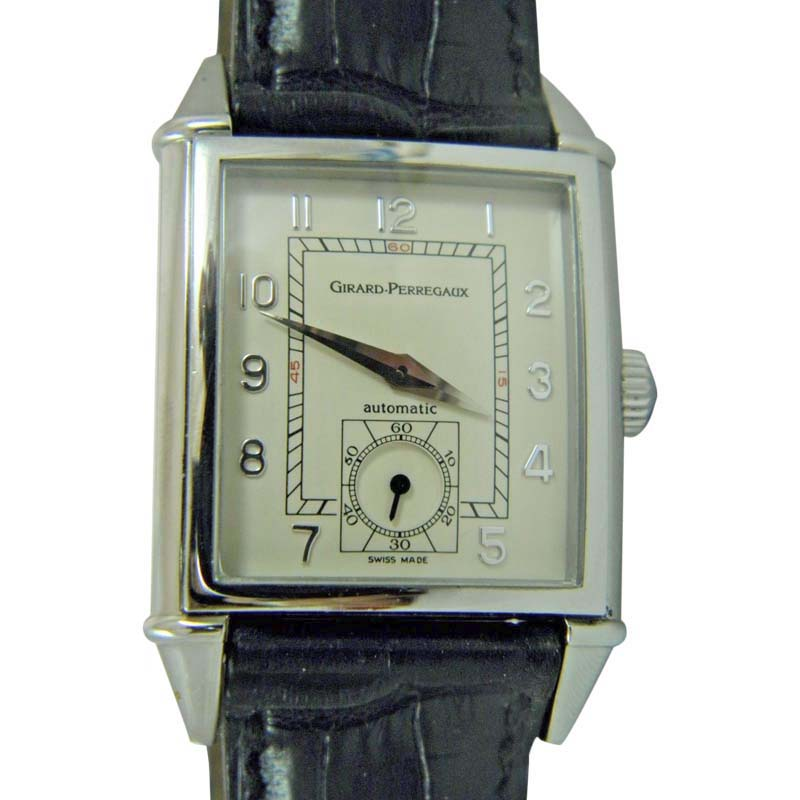 "Image of ""Girard Perregaux 2593 Stainless Steel & Leather Automatic 28.38mm Mens"""